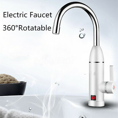 Instant Electric Faucet Tap Water Heater Bathroom Kitchen Sink Hot Water System