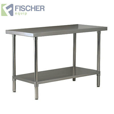 1829mm x 610mm NEW STAINLESS STEEL GRADE #430 COMMERCIAL KITCHEN BENCH