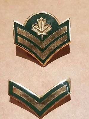Master Corporal and Private metal chevrons (Pins) - Canadian Army