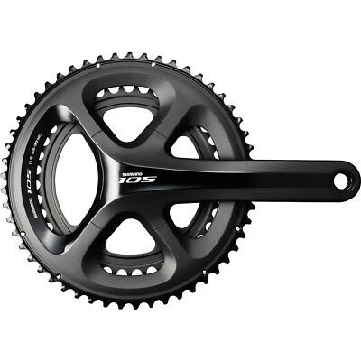 Shimano 105 5800 HollowTech II 11-Speed Chainset Black Bicycle Crankset