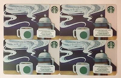 Lot of 4 Starbucks Card 2017 Braile CANADA VERSION NEW