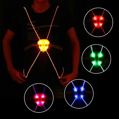 Lightweight LED Running Cycling Reflective Strap Night Safety Vest Jacket R GT