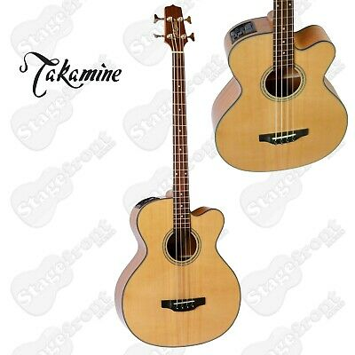 Takamine Bass Guitar G-Series Acoustic/Electric Solid Spruce Top Gb30Ce-Nat