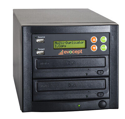 evocept CopyBlast Ultimate DVD/CD 1 Drive Duplicator Copier Tower with USB Copy