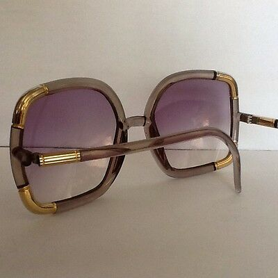 Vintage 70's Ted Lapidus of Paris oversized sunglasses rose tint lens 70's Glam