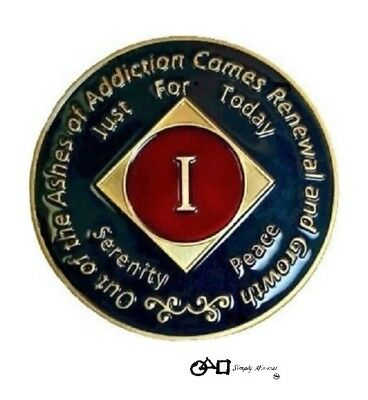 Premium NA Recovery 1 Year Clean Time Coin Narcotics Anonymous Token Medallion