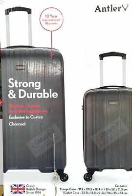 Antler Titanium Large and Cabin 2PC Luggage Set 81cm & 56cm