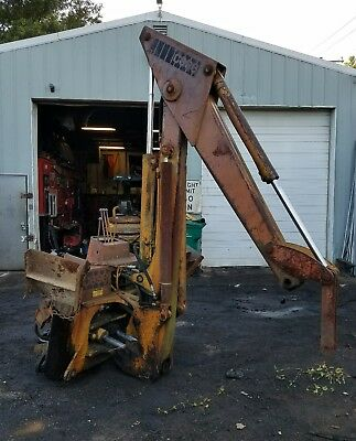 Case 580B backhoe assembly with outriggers Retrofit for tractor or skid steer
