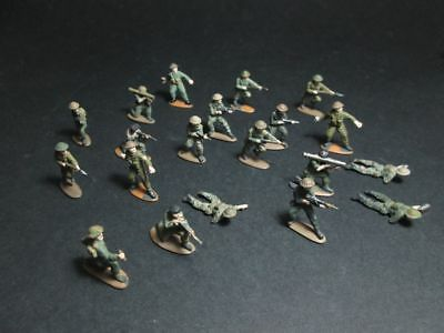 BRITISH MODERN INFANTRY Hand Painted Matchbox Soldiers Figures vintage Wargame