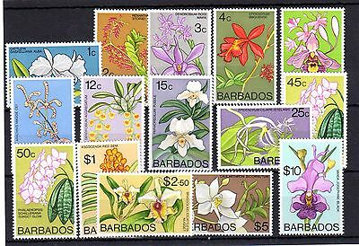 Barbados, 1975, Orchids MNH Set, SG 510/524, as scan