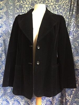 So-ooo Sixties! True Vintage 1960s/70s Velvet Jacket By Casually Yours