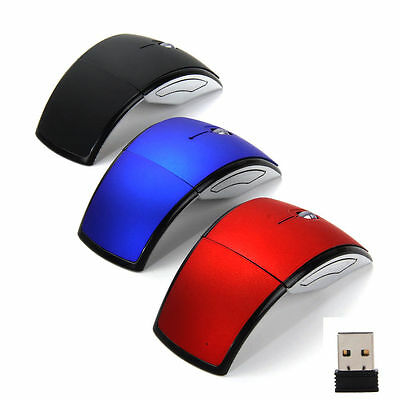 Red Arc Folding 2.4Ghz Wireless Optical Scroll Wheel Mouse Mice For PC Laptop(9