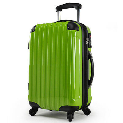 "24"" Green Height 60cm TSA Lock Universal Wheel ABS+PC Travel Suitcase Luggage"