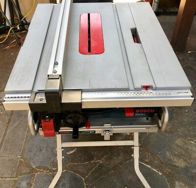 Bosch portable Table Saw GTS 10J with stand and dust bag