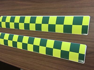 Magnetic Sign Battenberg green Yellow Ambulance Medic vehicle emergency response