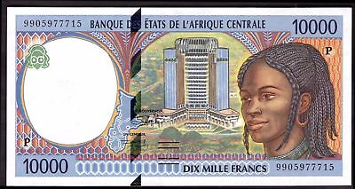 Chad, 10,000 Francs, 9905977715, Very Fine- Extremely Fine.