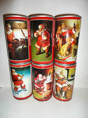 Coca cola  Xmas   set of 6  from New Zealand 1986