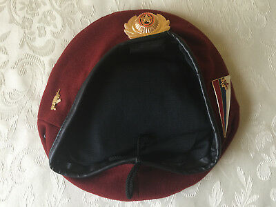 Russian  Internal Troops Spetsnaz maroon beret with 3 badge. Russia. Size 60
