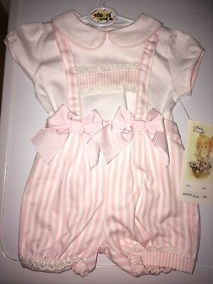Pretty Originals Baby Girl 18 months outfit romper new with tags pink beautiful