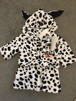 Baby Girl Disney Dressing Gown With Bootees, 0-3 Months