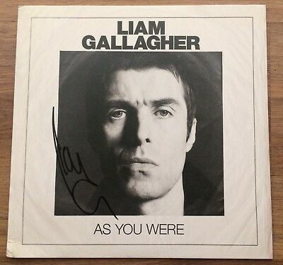 Liam Gallagher As You Were Poster plus  Vinyl  LP  Signed by Liam