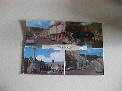 Westport Multiview Ford Cortina Mk2 Beetle Posted 1960,s Postcard Good Condition