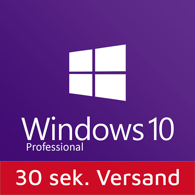 Windows 10 Professional 32-64 Bit SP1 Deutsch OEM Vollversion Win 10 Pro WOW