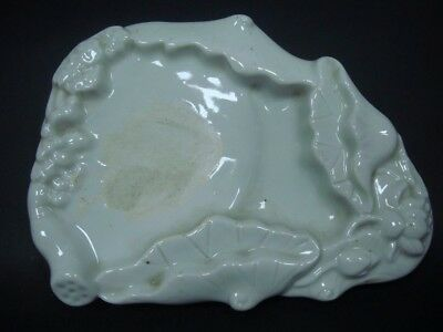 Rare Ancient Old Chinese White Glaze Porcelain Carving InkSlab