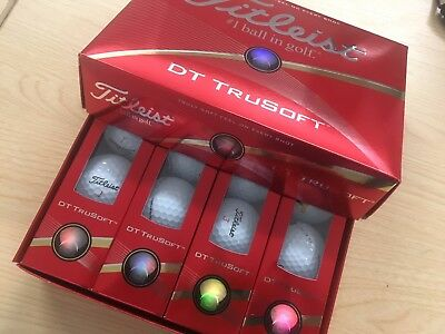 Titleist DT Tru Soft Golf Balls **** Brand New **** Logo'd as cancelled order