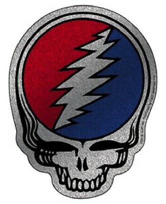 The Grateful Dead Steal Your Face Glitter Die Cut sticker rock jerry garcia