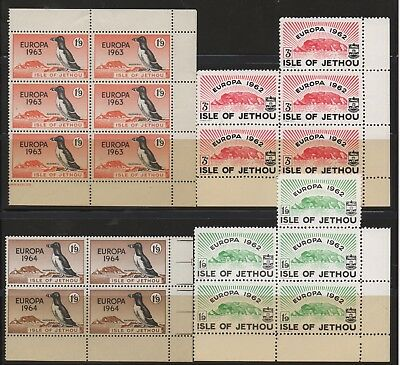 ISLE OF JETHOU - Guernsey - 4 Blocks of Stamps from 1962-1964