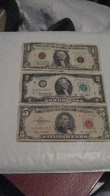 $1  $2  and $5- Federal Reserve Note - FAST FREE SHIPPING !
