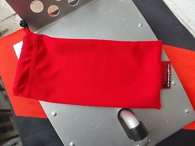 Brand New Oakley Red Color  Microfiber Cleaning Bag Large Size Rare Color