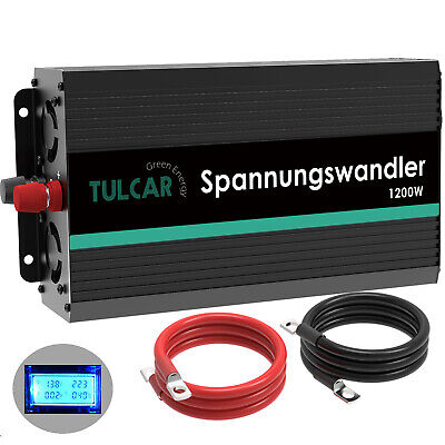 Convertisseur 12V 220V 230V 1200W 2500W onduleur Power Inverter LCD Softstart RV