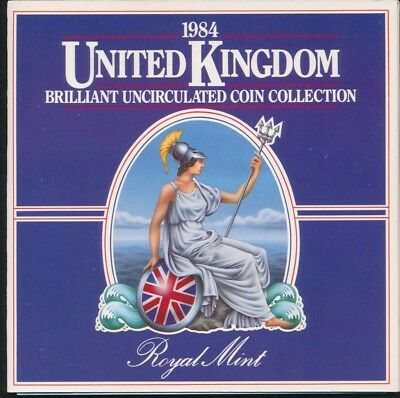Great Britain 1984 Royal Mint 8 coin UNC set in Folder