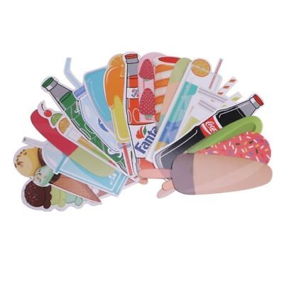 30pcs Cute Candy Bookmarks Paper Clip Office School Stationery Supply Funny Gift