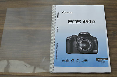 ~PRINTED~ Canon EOS 450D  User guide Instruction manual  A4 or A5