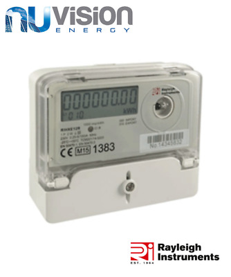 Rayleigh SINGLE PHASE 100A 1000 pulse/kWh OFTEC GENERATION METER IP51