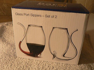 Glass Port Sippers (set of two) new from Bar&Drinkstuff