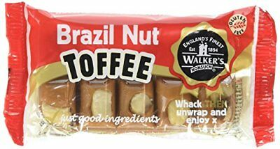 WALKERS NONSUCH Brazil Nut Toffee Bars in Traditional Tin Tray 100 g  Pack of 10