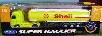 WELLY HO scale DIECAST ~ 'SHELL TANKER' ~ FULLY ASSEMBLED 1/87 MODEL