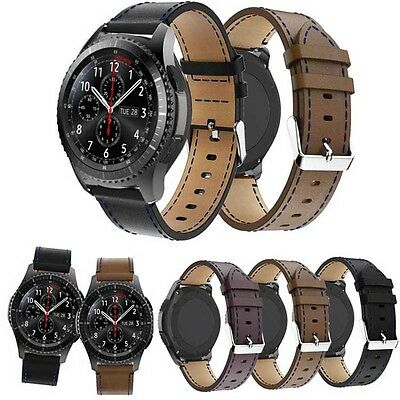 UK Stock Leather Wrist Strap Wristband For Samsung Gear S3 Classic / Frontier