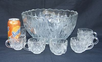 Retro Vintage Mid Century Punch Bowl, Square. 7 Cups.