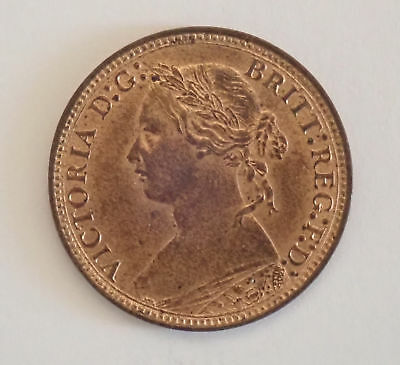 Victoria, farthing, 1878, GEF with lustre