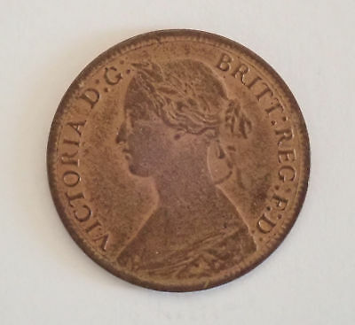 Victoria, farthing, 1866, EF with lustre