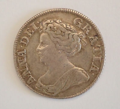 Anne, shilling, 1711, 4th bust, VF