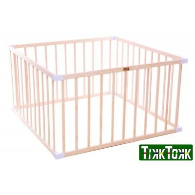 TikkTokk Little BOSS Playpen SQUARE, Natural & White