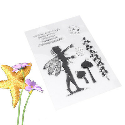 Lowest Price 1 Sheet DIY Flower Fairy Transparent Clear Cling Stamp Craft