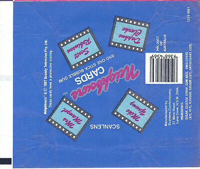 Scanlens - Neighbours - Card Wrapper - 1987 - NO TEARS / RIPS