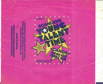 Scanlens - Young Talent Time - Card Wrapper - 1986 - NO TEARS / RIPS